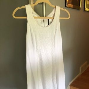 White fitted dress.